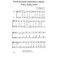 four carols satb by san j w pepper sheet