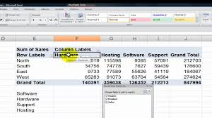 how to sort a pivot table sorting pivot table field values in excel youtube
