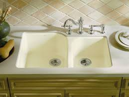 undermount kitchen sink with faucet holes standard plumbing supply product kohler k 5931 4u 7 executive