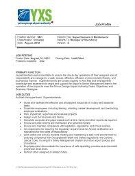 Maintenance Position Resume Av Op Connections September 2012