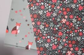 sided wrapping paper sided fox floral wrapping paper pack by the chalk lion