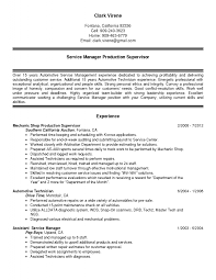 Sample Resume For Automotive Technician by Resume Automotive Technician
