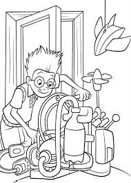 lewis setting machine meet robinsons coloring pages