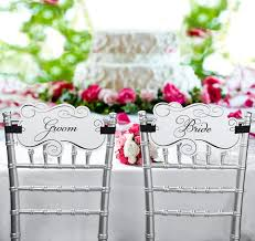 wedding chair sashes chair sashes chair banners