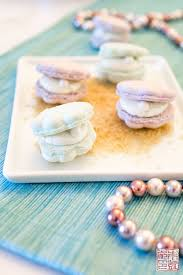 seashell macarons with sea salt vanilla buttercream dessert first