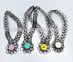 custom charm necklace stretch tattoo choker necklace cheap custom charm elastic wire
