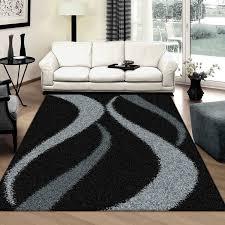 supreme shaggy black rug by saray rugs