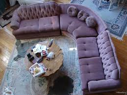 extraordinary tufted sectional sofa and purple velvet chesterfield