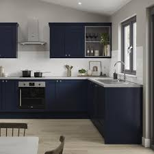 navy blue kitchen cabinets howdens blue kitchens blue fitted kitchens howdens