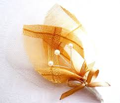 Gold Boutonniere Rustic Gold Boutonniere