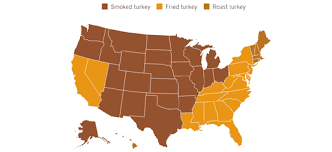 maps mania the geography of the thanksgiving meal
