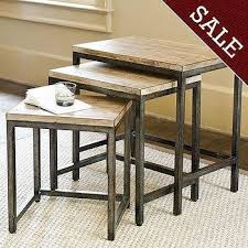 Pottery Barn Willow Table Willow Nesting Tables Set Of 2 Pottery Barn