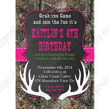 camo birthday party printable invitation hunting realtree diy
