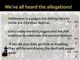 is not a pagan festival after all