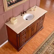 silkroad 58 inch antique single sink bathroom vanity marfil