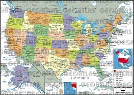 Unites States Map by Geoatlas United States Canada United States Of America Map