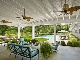Pergola Ceiling Fan A Frame Patio Cover Patio Farmhouse With White Ceiling Palm Frond