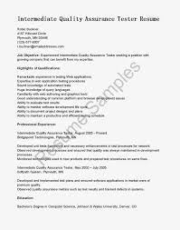 Environmental Specialist Resume Quality Assurance Resume Objective Svixe Don T Live A Little