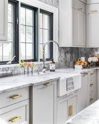 light gray kitchen cabinets with marble countertops gray kitchen cabinets gold hardware page 1 line 17qq