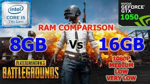 pubg 8gb ram 8gb vs 16gb ram in playerunknown s battlegrounds youtube