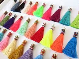 Handmade Home Decor Projects Luxurious Handmade Silky Beaded Long Tassels For Jewelry Making