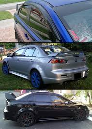 jdm mitsubishi evo amazon com jdm 3d wavy shape mugen style smoke tinted window