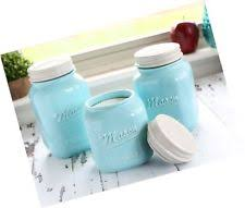 blue kitchen canister blue kitchen canisters jars ebay