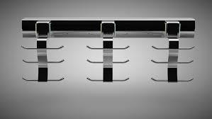 Ideas For Wall Mounted Tie Rack Design Accessories Enchanting Modern Shape Mounted Wall Chrome Hook Tie