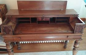 Antique Spinet Desk I Have A H E Shaw Furniture Manufacturers Grand Rapids Michigan