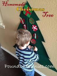 homemade christmas tree from felt see how to make easy felt