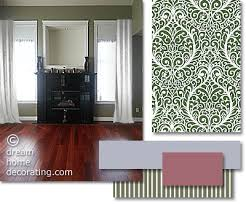furniture and curtain colours that match a cherry red hardwood floor