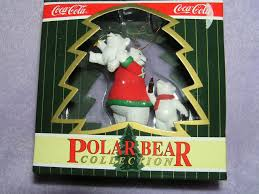 amazon com coca cola polar bear collection coke ornament 1996