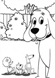 clifford the big red dog and friends coloring page download