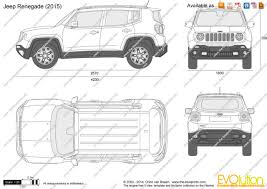 jeep van 2015 the blueprints com vector drawing jeep renegade
