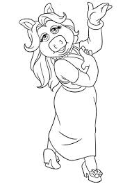 lovely piggy muppets coloring pages lovely
