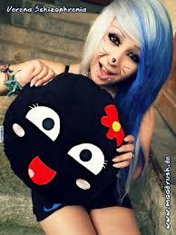 Rage Girl Meme - verena schizophrenia cute scene girl meme smiley rage face kissen