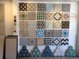this is my cement tile display in my showroom come in and say hi