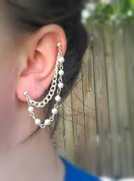 earrings with chain ear cartilage 62 best ear images on chain earrings jewelry and ear