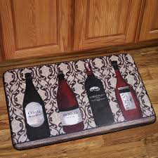 Kitchen Floor Mat Memory Foam Anti Fatigue Kitchen Floor Mat Wine Bottles Anti