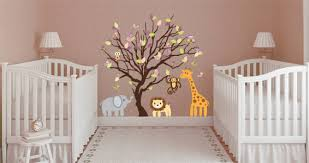 Tree Nursery Wall Decal Animal Tree Nursery Wall Decals Dezign With A Z