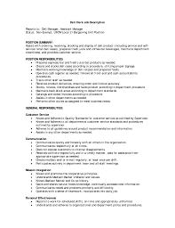 Bartending Resume Sles by Sales Clerk Description For Resume Free Resume Exle And