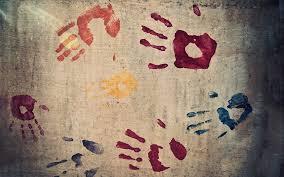 photo collection paint handprints wallpaper