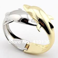 double bangle bracelet images Buy rb721 classic double dolphin bangles bracelet jpg