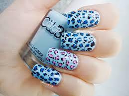 blue cheetah print nails designs