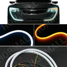 bicycle daytime running lights 60cm led flexible drl strip led daytime running lights with turn