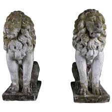 lion statues handcrafted antique lion statues at 1stdibs