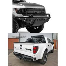 Ford Raptor Truck Bed Accessories - lex off road ford raptor 2010 2014 front rear dimple bumper kit