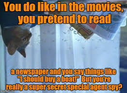 Newspaper Cat Meme - i should buy a boat cat meme imgflip