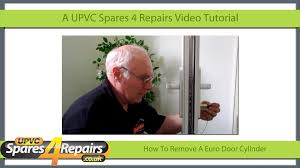 How To Remove A Patio Door by How To Remove A Upvc Euro Door Cylinder Youtube
