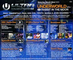 2003 Previous Lineups Ultra Music Festival